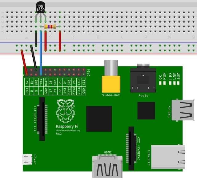 Admirable Tutorial Ds18S20 Temperatur Sensor An Einem Raspberry Pi Kopfkino Wiring Digital Resources Dimetprontobusorg