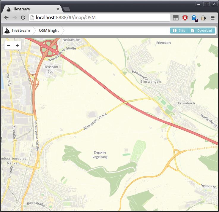 TileStream_Karte